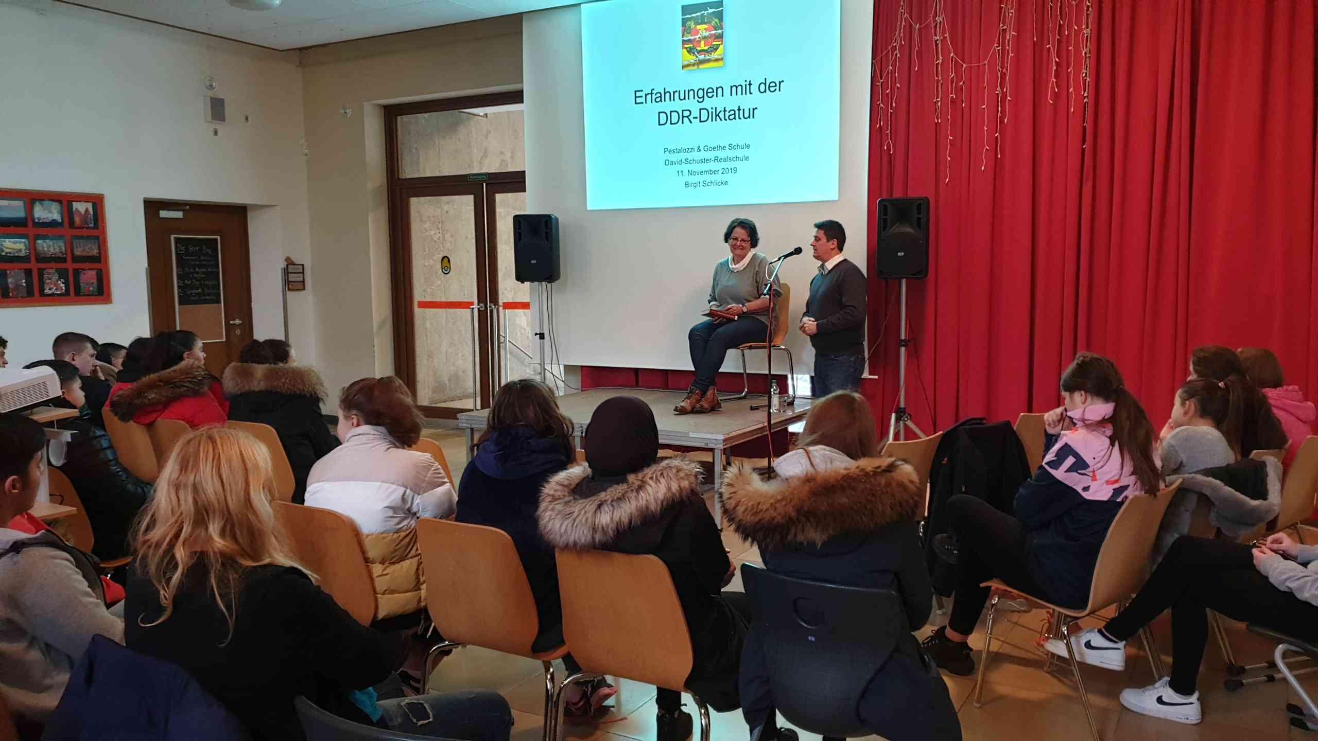 Zeitzeugenbericht an der Goethe-Mittelschule
