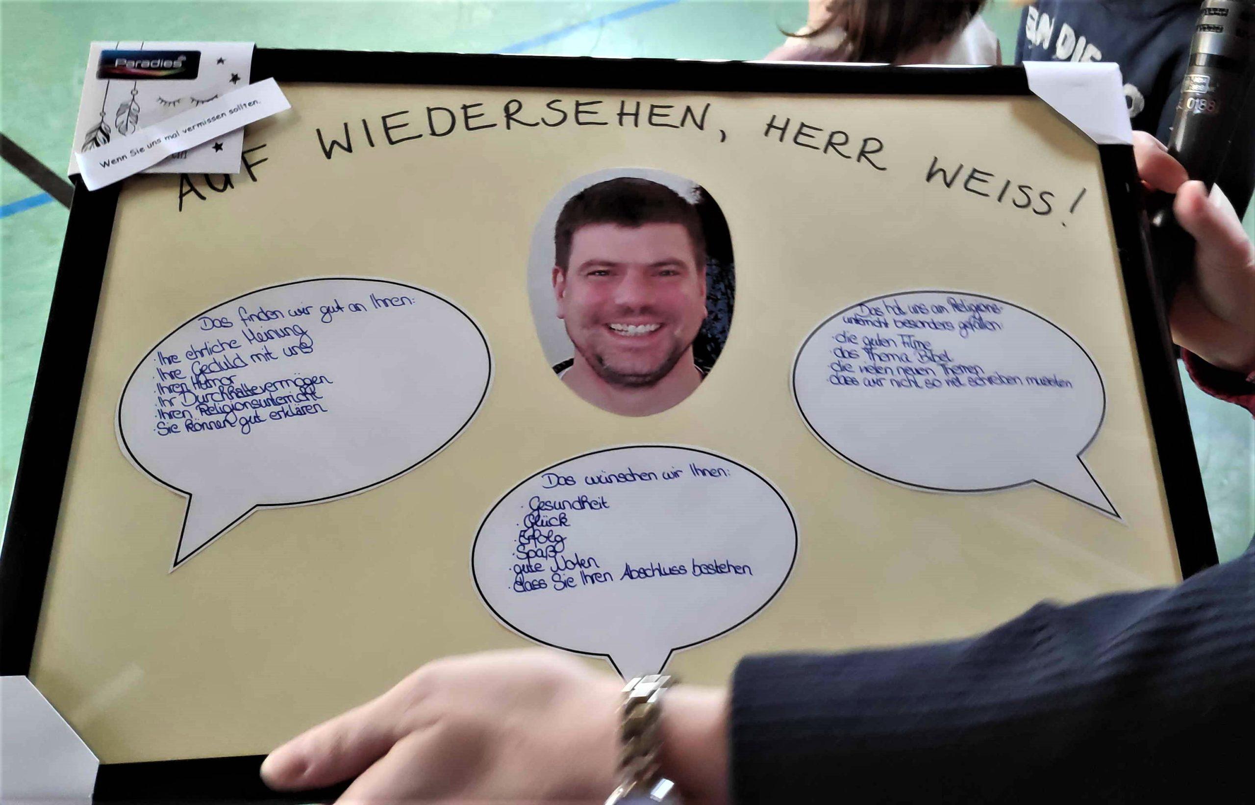 Verabschiedung von Herrn Walther Weiss