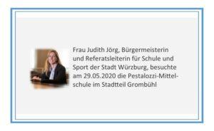 Frau J. Jörg informierte sich über unsere Schule